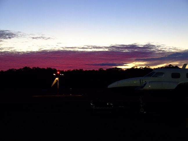 sunrise at Inverell Airport