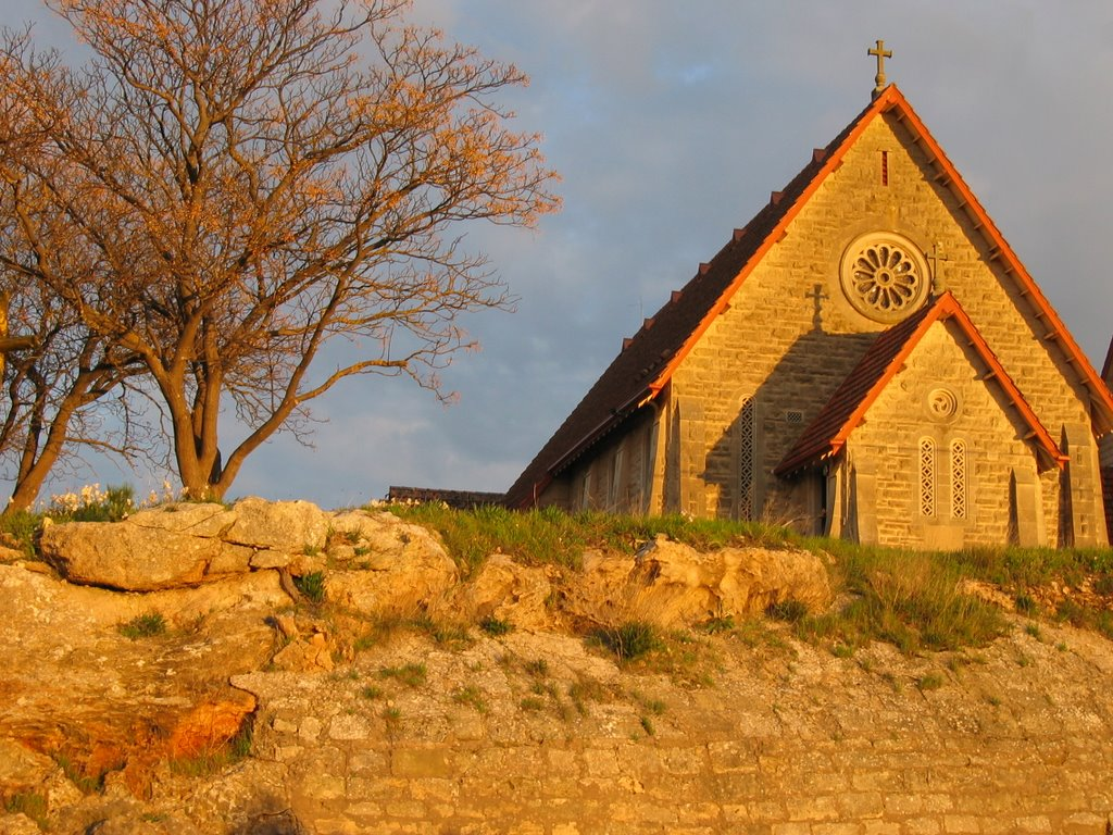 Church at sunset at Naracoorte
