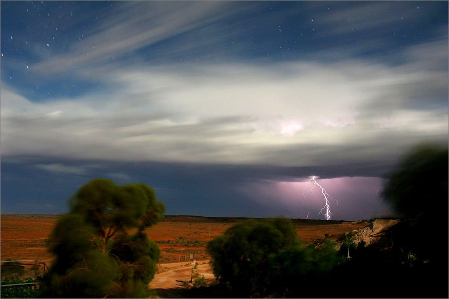 Thunderstorm at night, White Cliffs, Australia