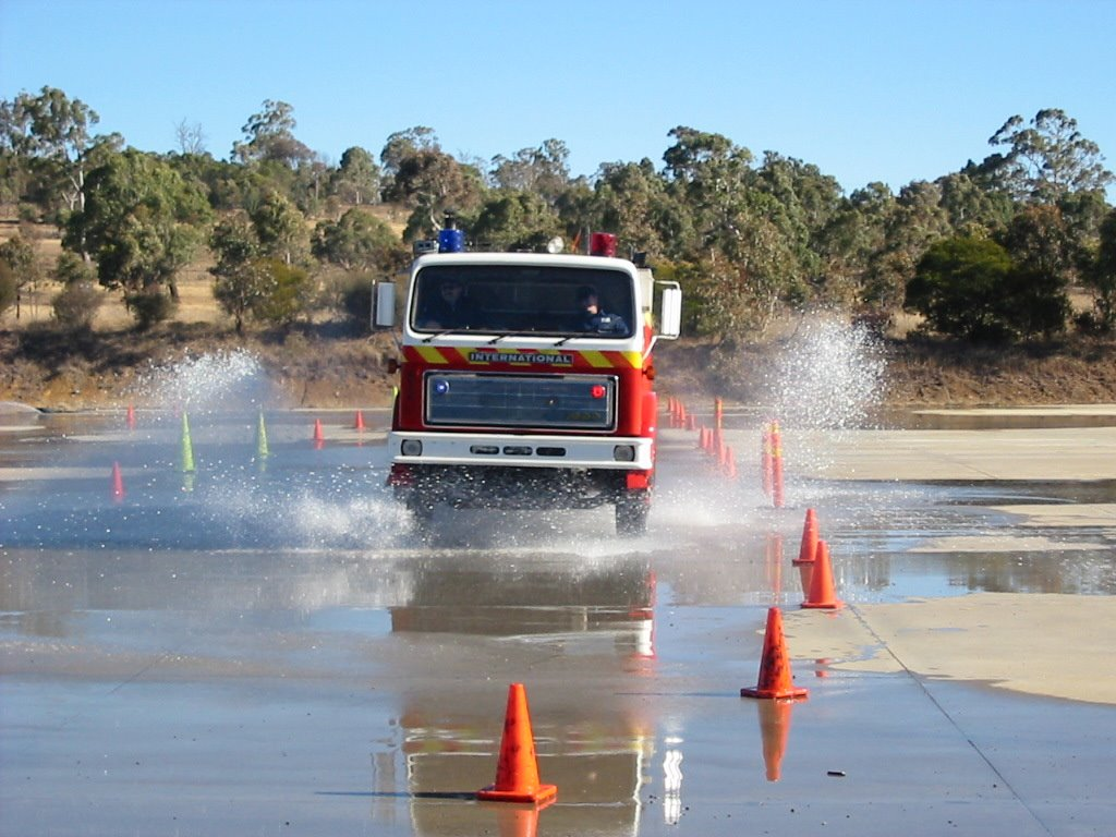 Armidale firefighter driver training