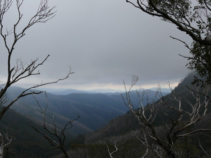 Storm clouds over the Victorian Alps