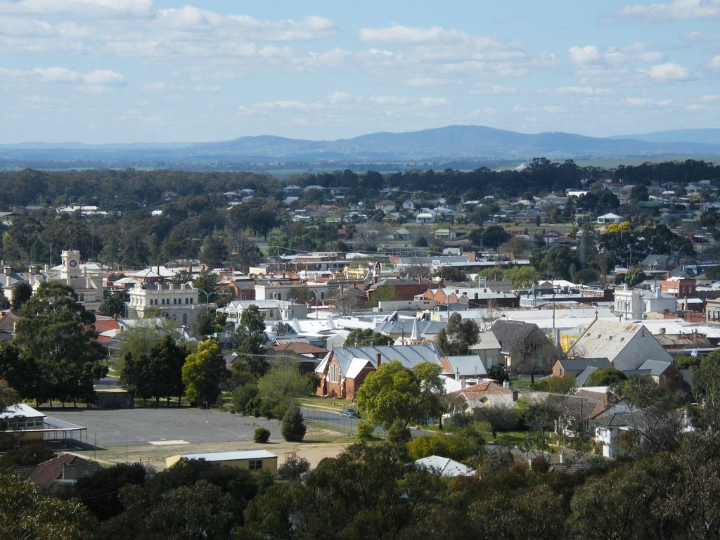 View from Pioneer Memorial Lookout - Maryborough