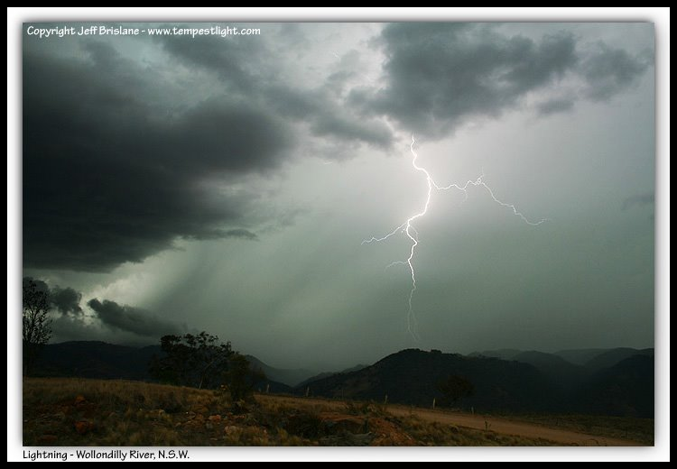 Lightning Strike over the Wollondilly River