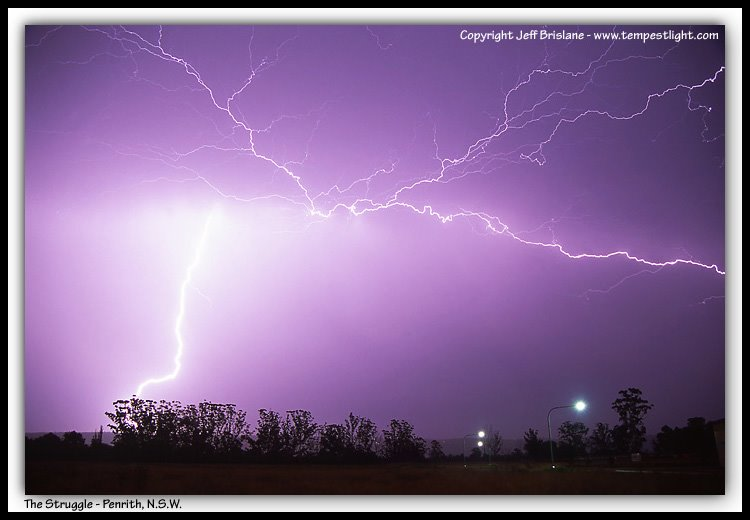 Lightning Strike from Penrith, New South Wales