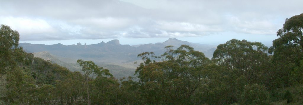 Warrumbungle Ranges panorama from the Observatory