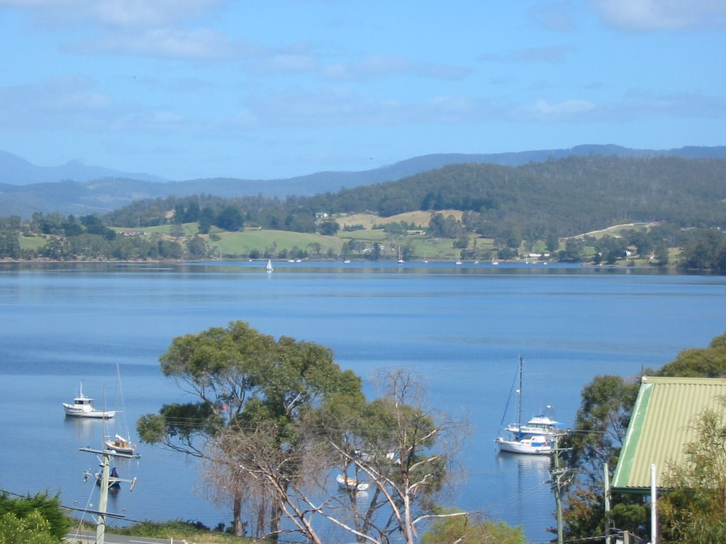View from Helms Bay Rd, Tasmania