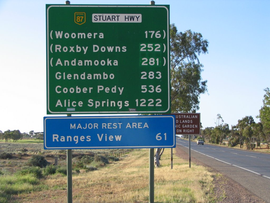 Alice Springs 1222 km Roadsign