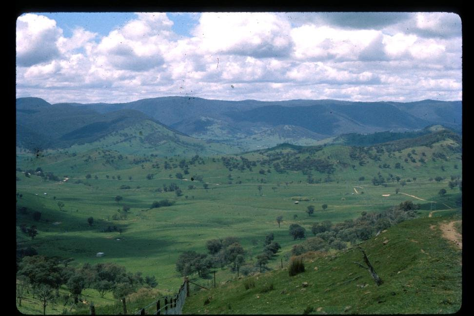 Sandy Creek valley, view from S.E.C. road, 1971