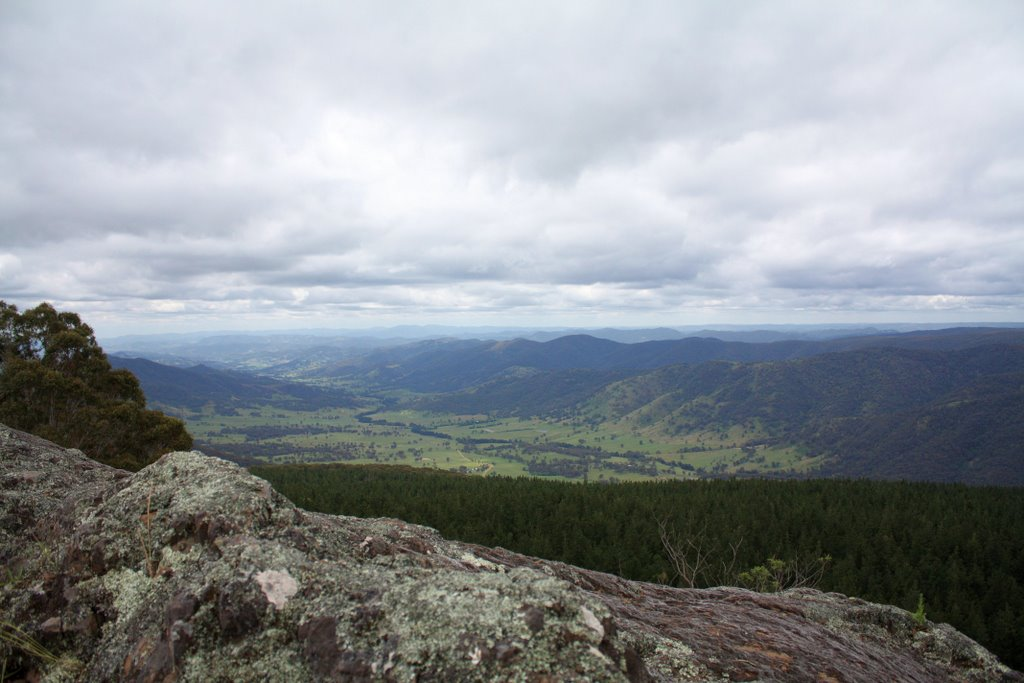 Duncans Creek Valley, viewed from Baldy Knob, 1363m ASL