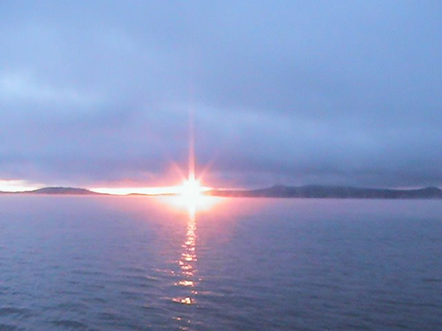 Sunrise from Hydro Bay