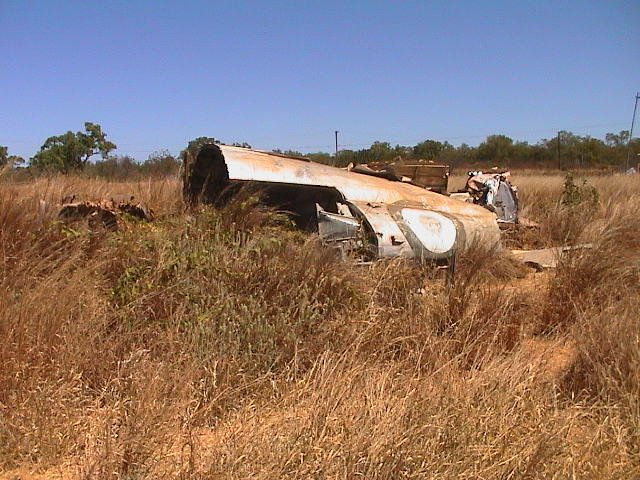 C-47 wreck: RAAF A65-75 crashed oct 26, 1956 at Daly Waters Aerodrome
