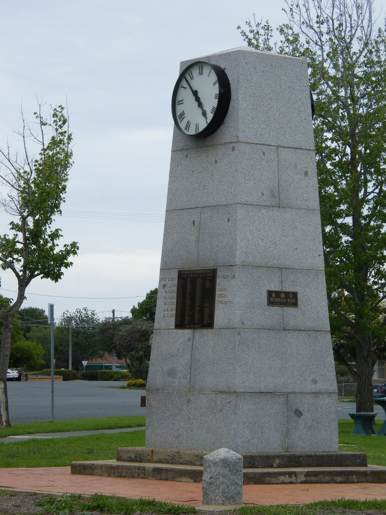 War Memorial and Clock - Stanhope