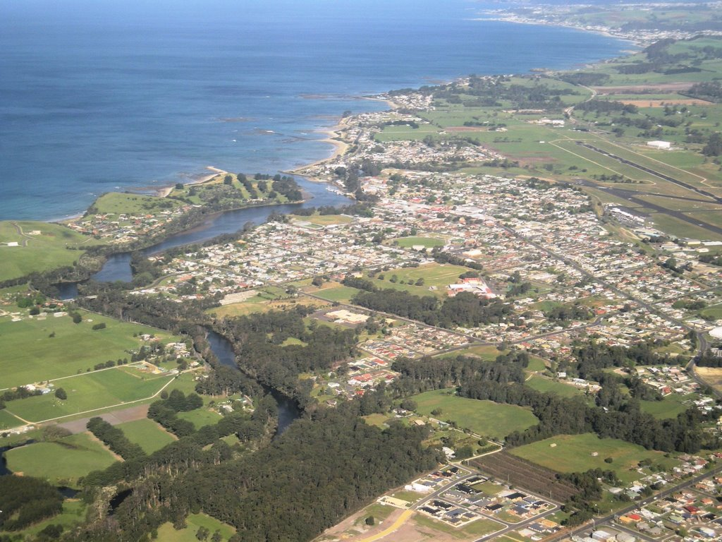 Wynyard from the air