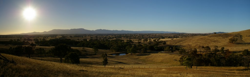 The Grampians rising from the plains west of Ararat