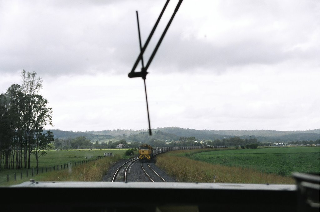 Crossing Trains, near Laidley