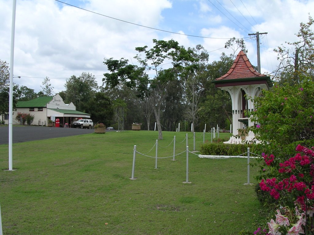 War Memorial and shop at Linville Queensland