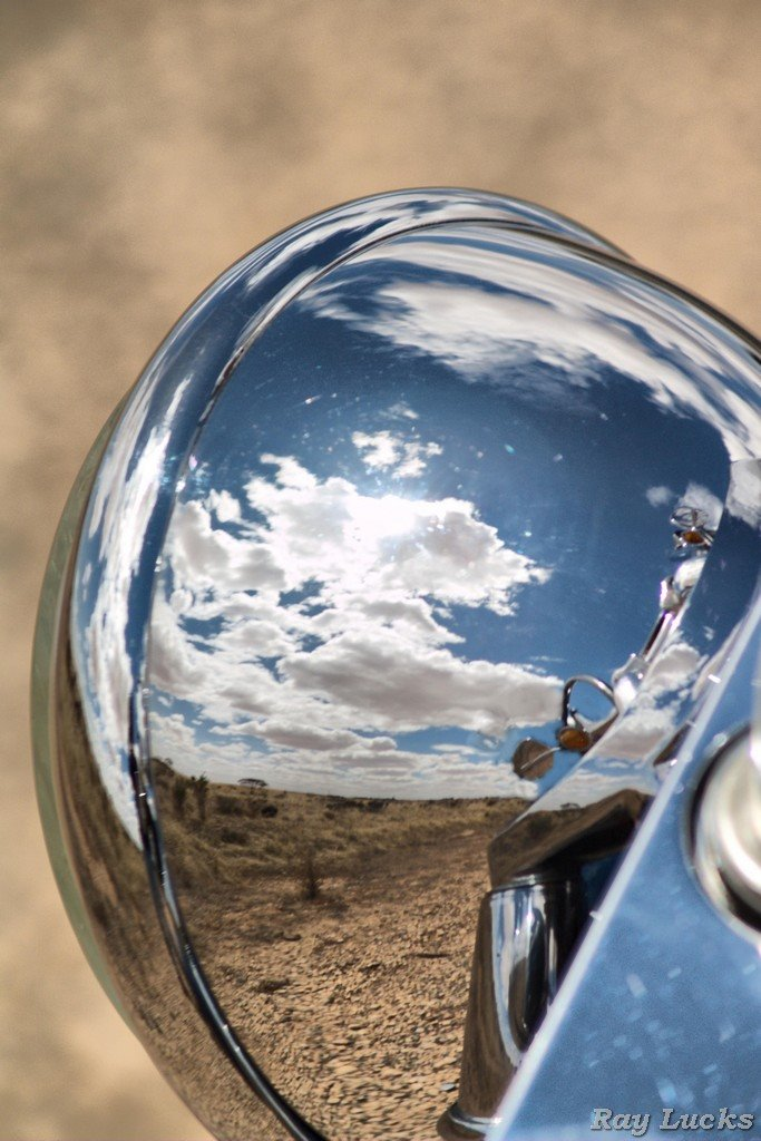 Halrey Davidson Head Lamp  - Country reflection