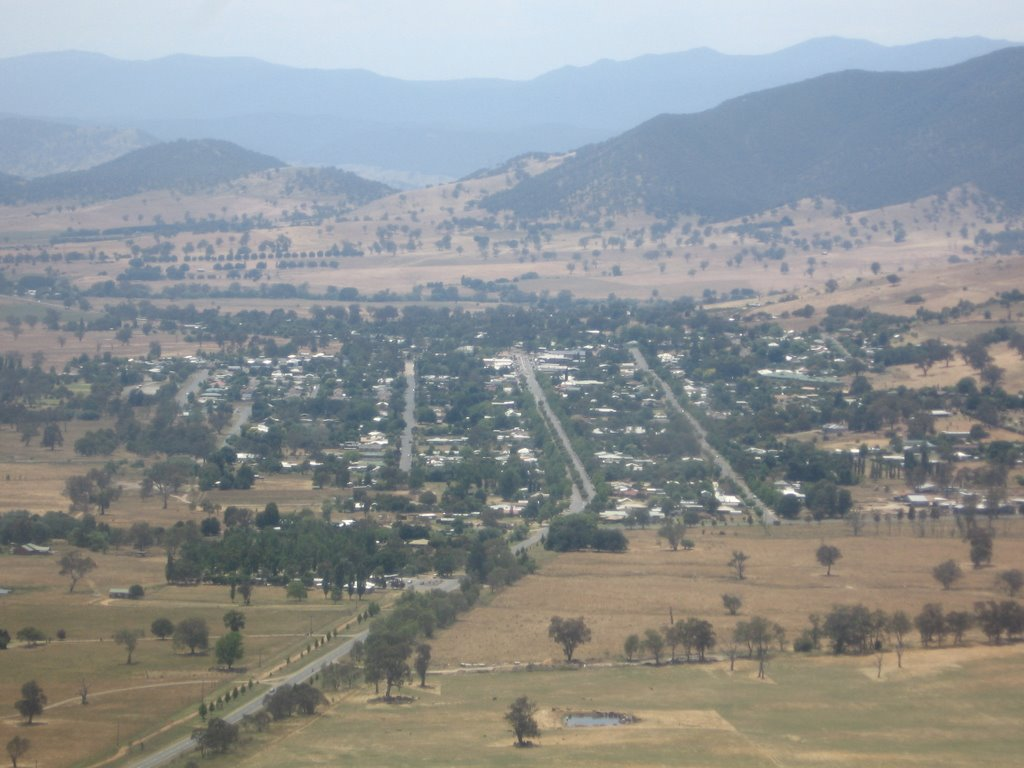 Corryong from the air