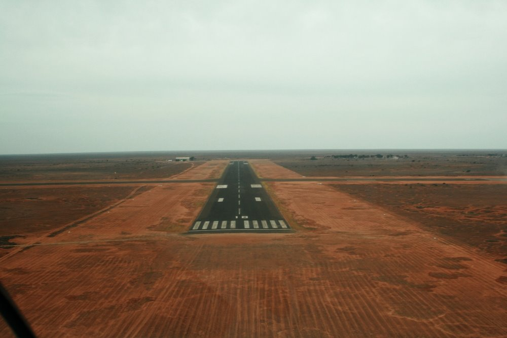 About to touchdown at Forrest Airstrip