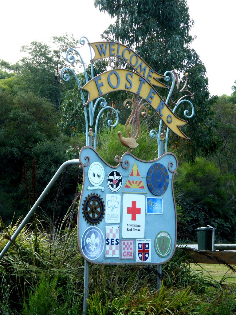 Roadside Welcome Sign - Foster