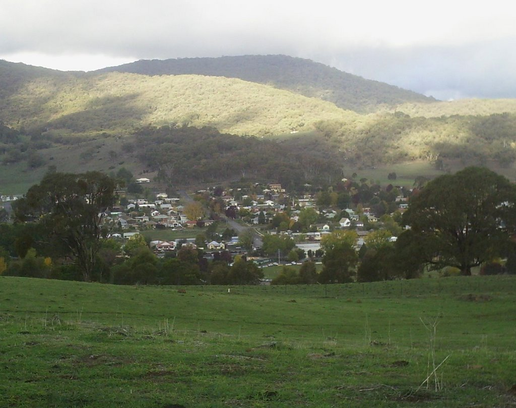Looking east over Tumbarumba NSW, Australia