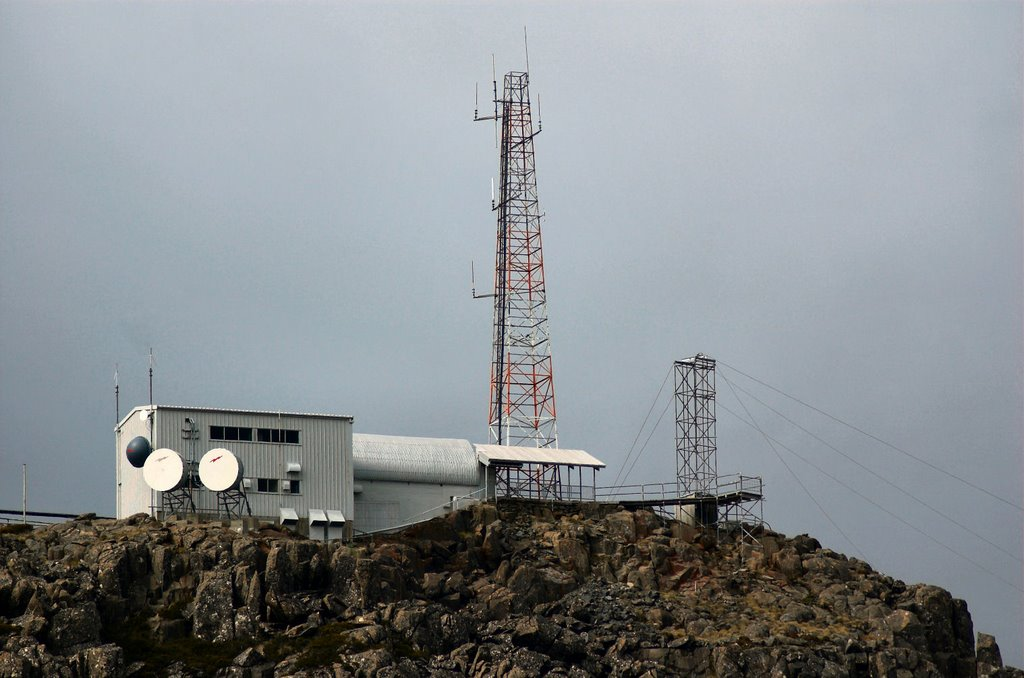 Communications complex on Mt Barrow