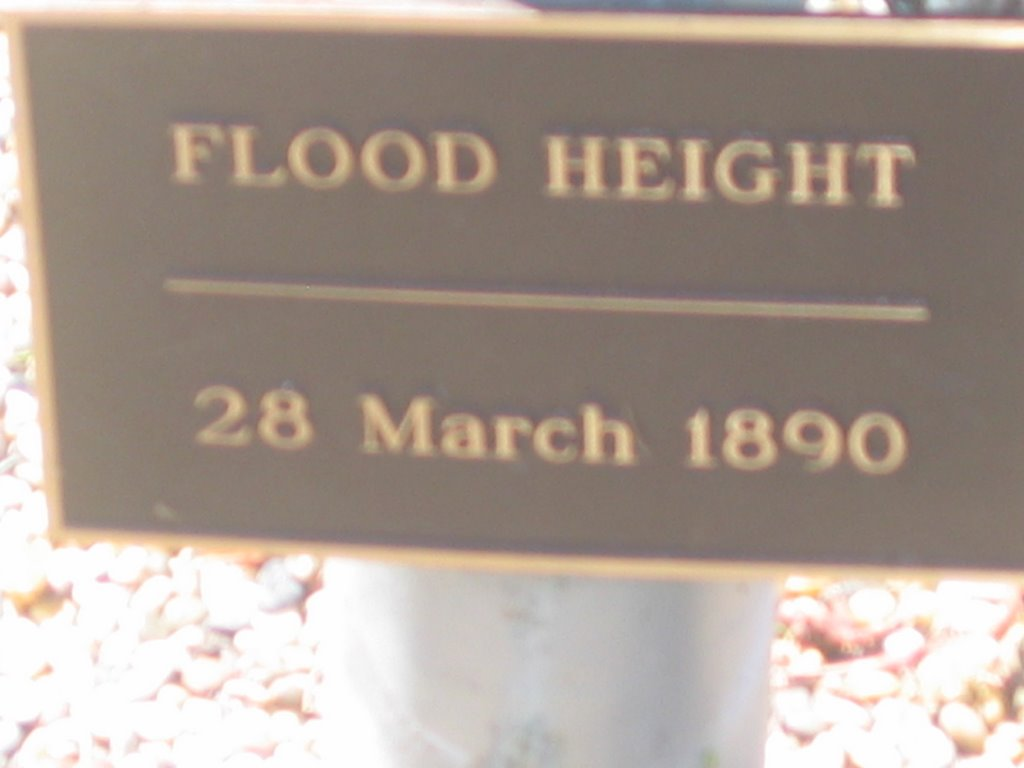 Dawson River flood height at Taroom, 28 March 1890