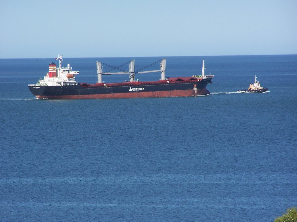 Ship Departing Port Pirie