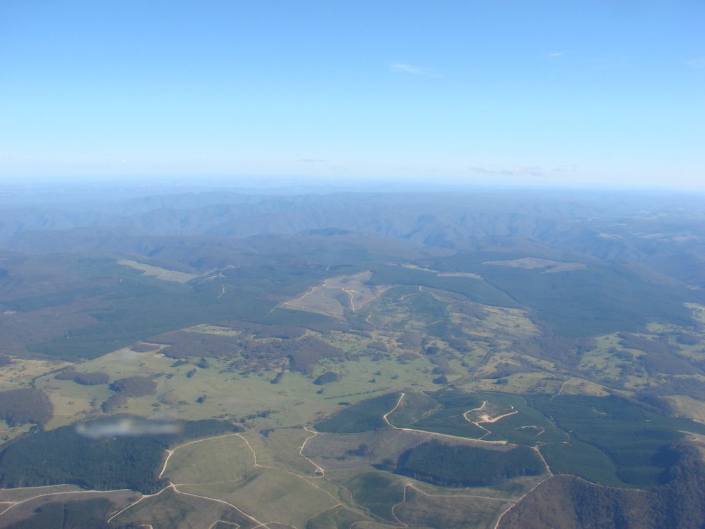 Flying from Parkes to Bankstown at 9500 feet