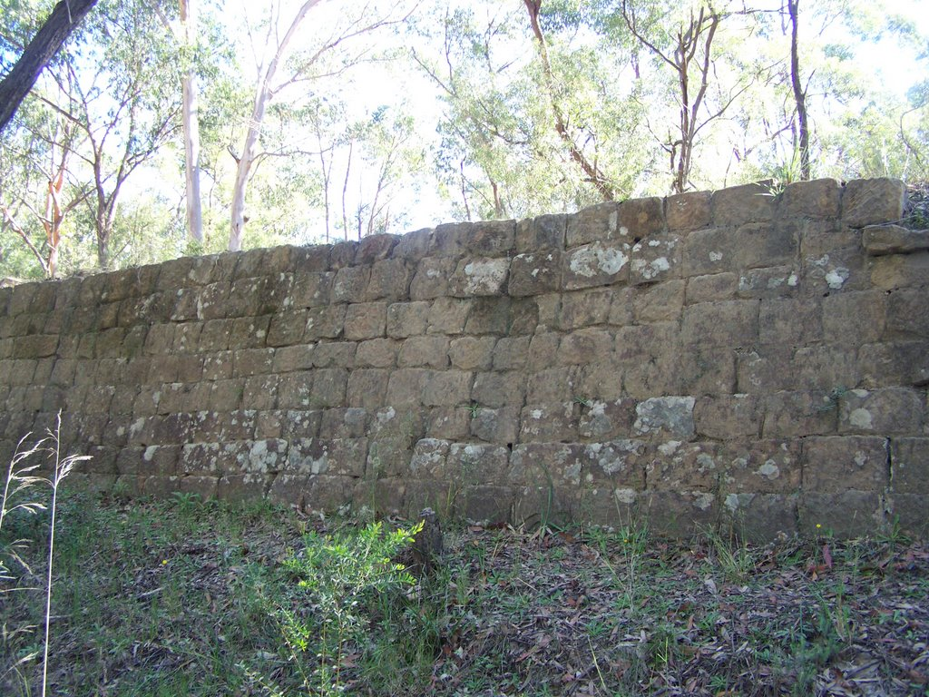 "A Retaining wall built by ""The Chain Gang""  in  1830"
