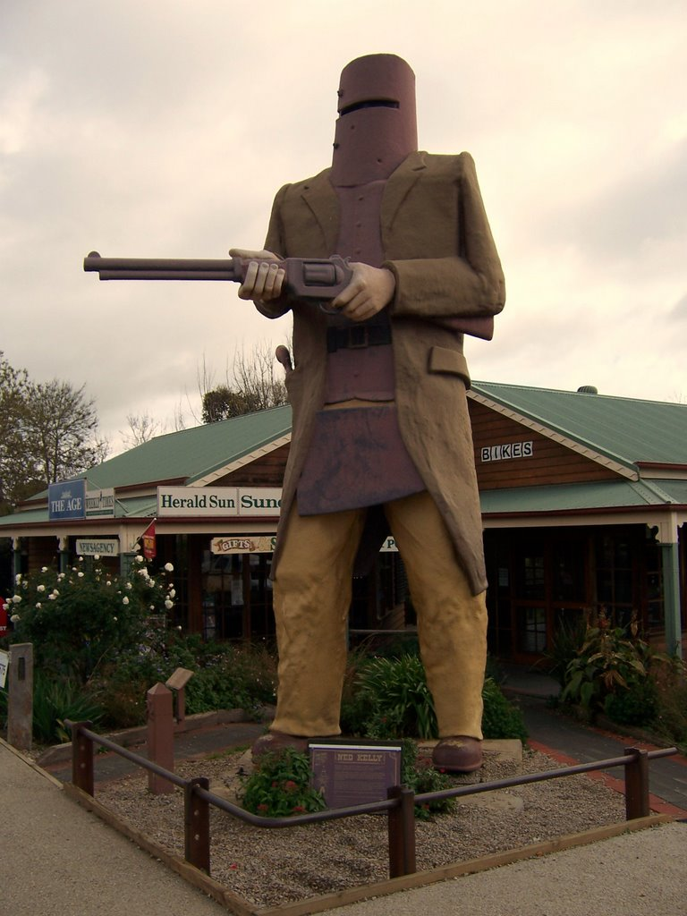 Ned Kelly statue at Glenrowan Vic