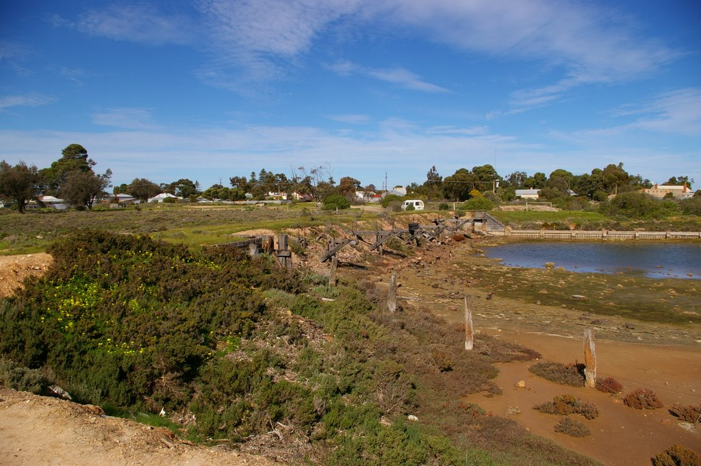 Remnants of the Wharf at Port Wakefield alongside the old Railway