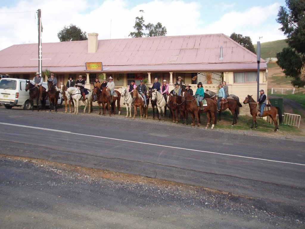 Horse Riders at Tuena Hotel