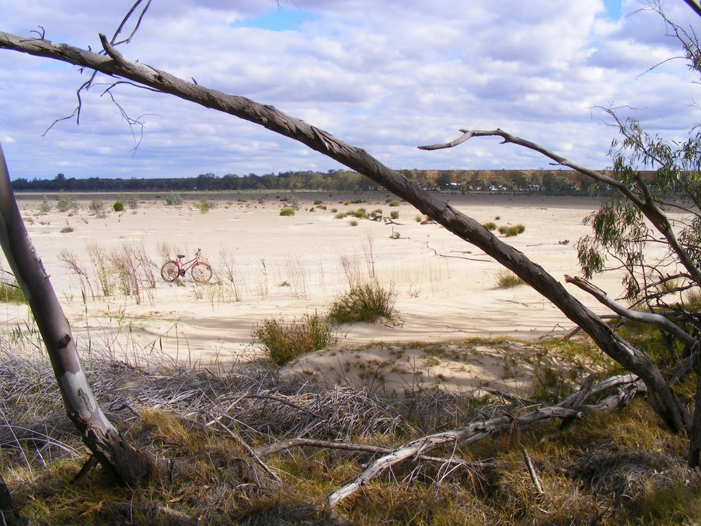 dried-up lake