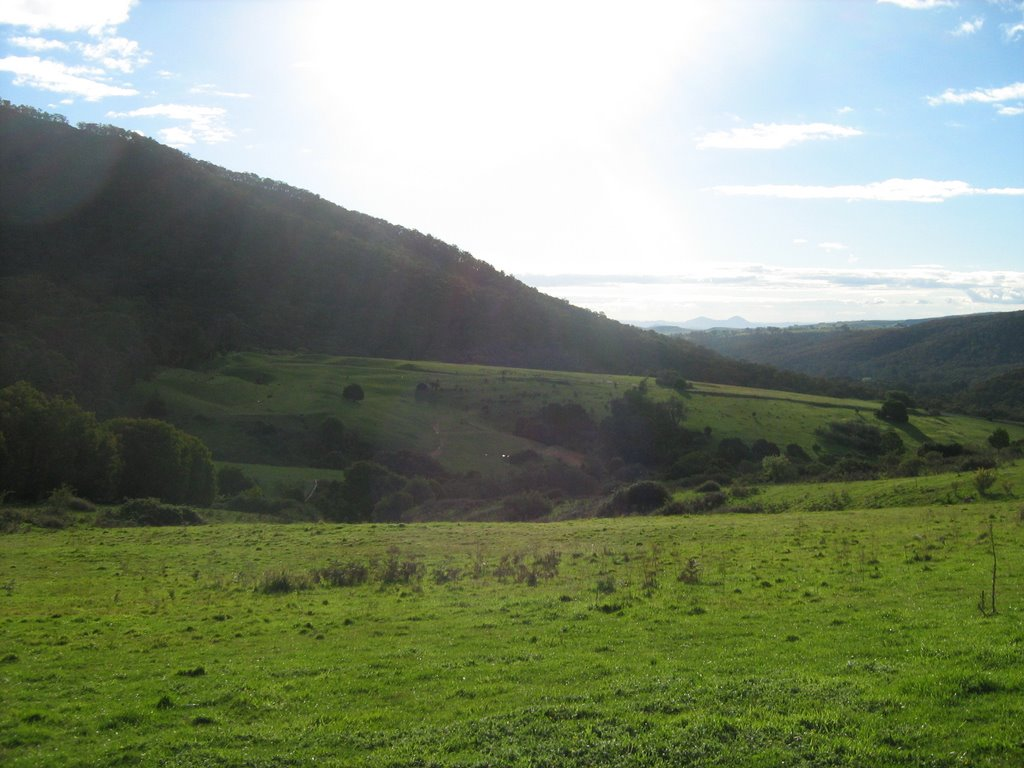 View over valley near Sawmill Settlement, Vic