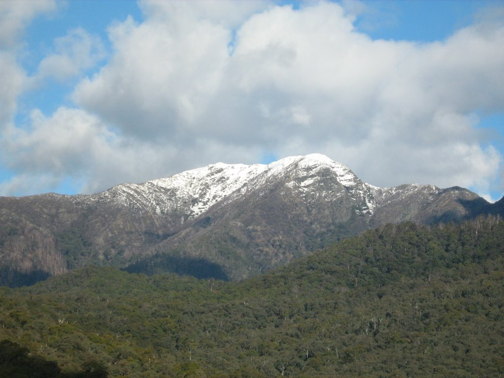 Late season snow (Mid Oct) on Mt Buller from near Sawmill Settlement, Vic