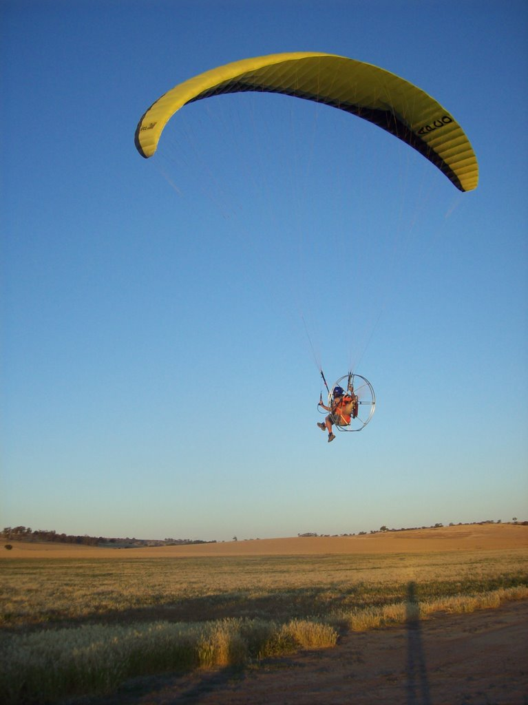 Paramotor - low level flyby