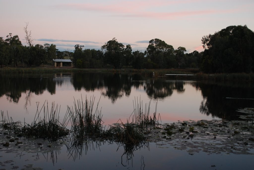 Bird Hides at the Historic Railway Reservoir Reserve, Traralgon