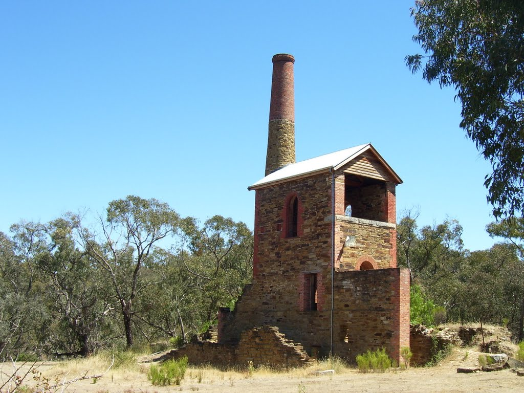 Duke of Cornwall engine house at Fryerstown