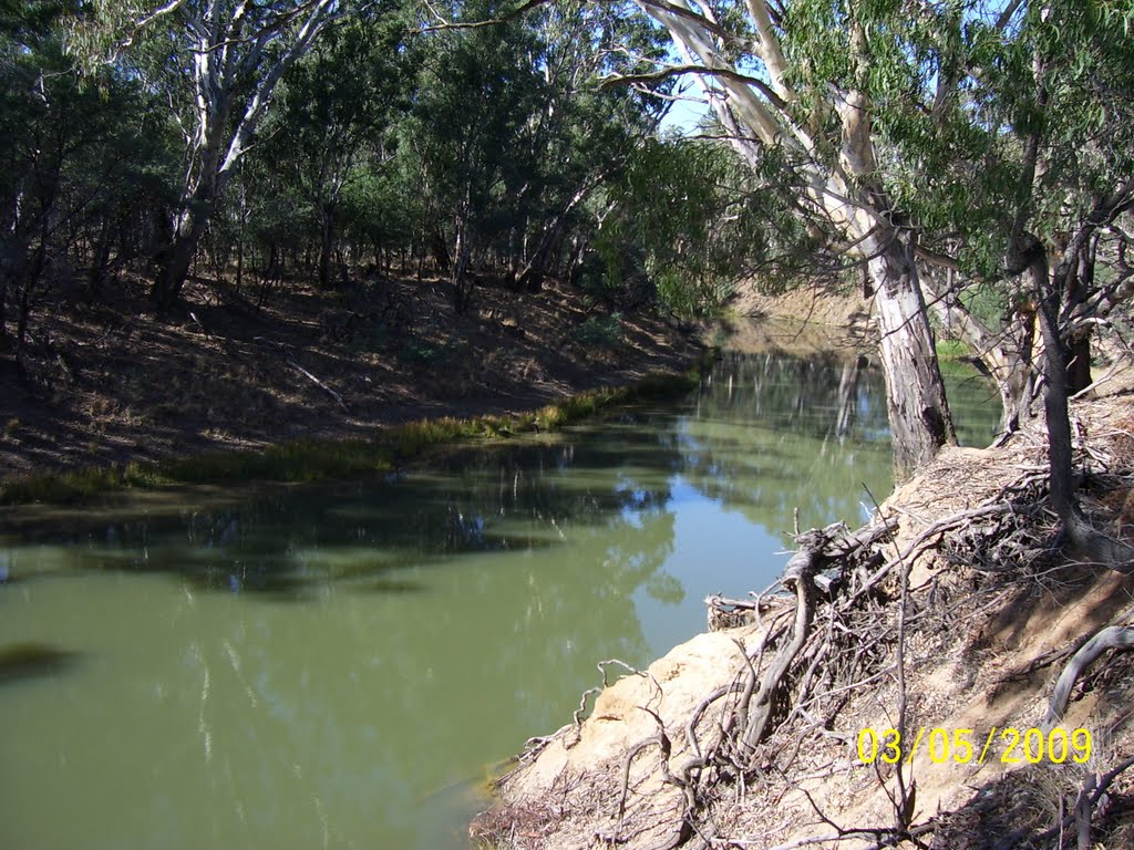 Goulburn River - near site of Tongala Run established in 1841