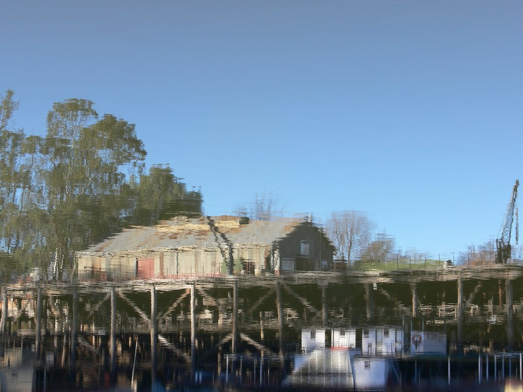 Reflections of  Wharf (Port of Echuca)