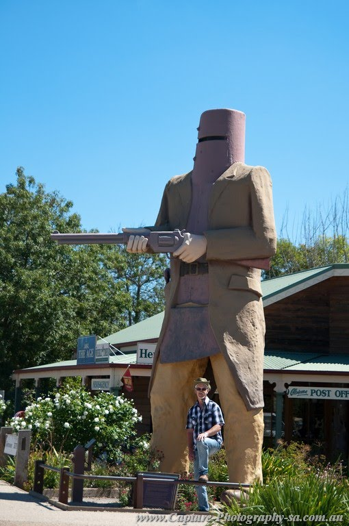Glenrowan - Ned Kelly looking out for Me :-)