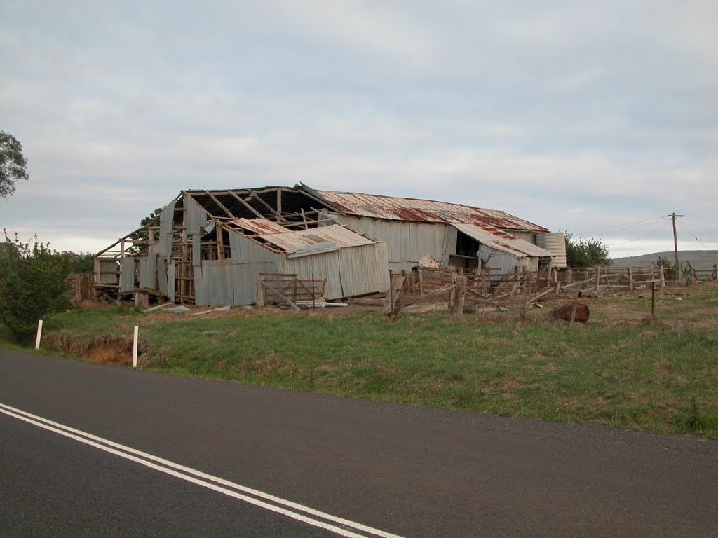 Delapidated shearing shed