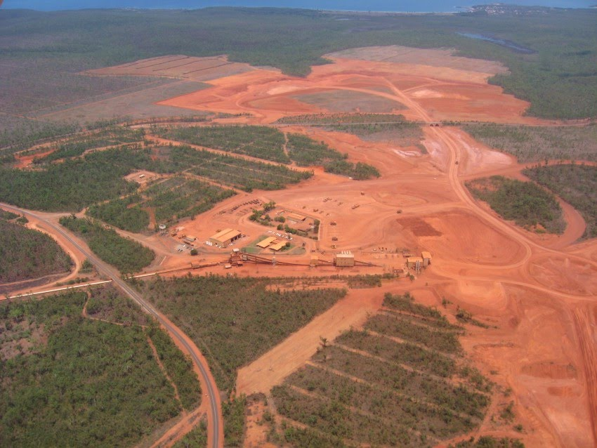 Gove mine from the air