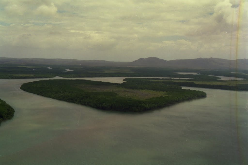 Lockhart River mouth from the air