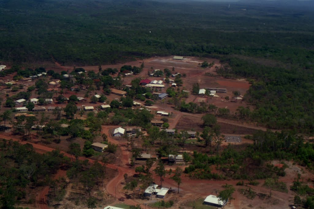 Lockhart River township from the air