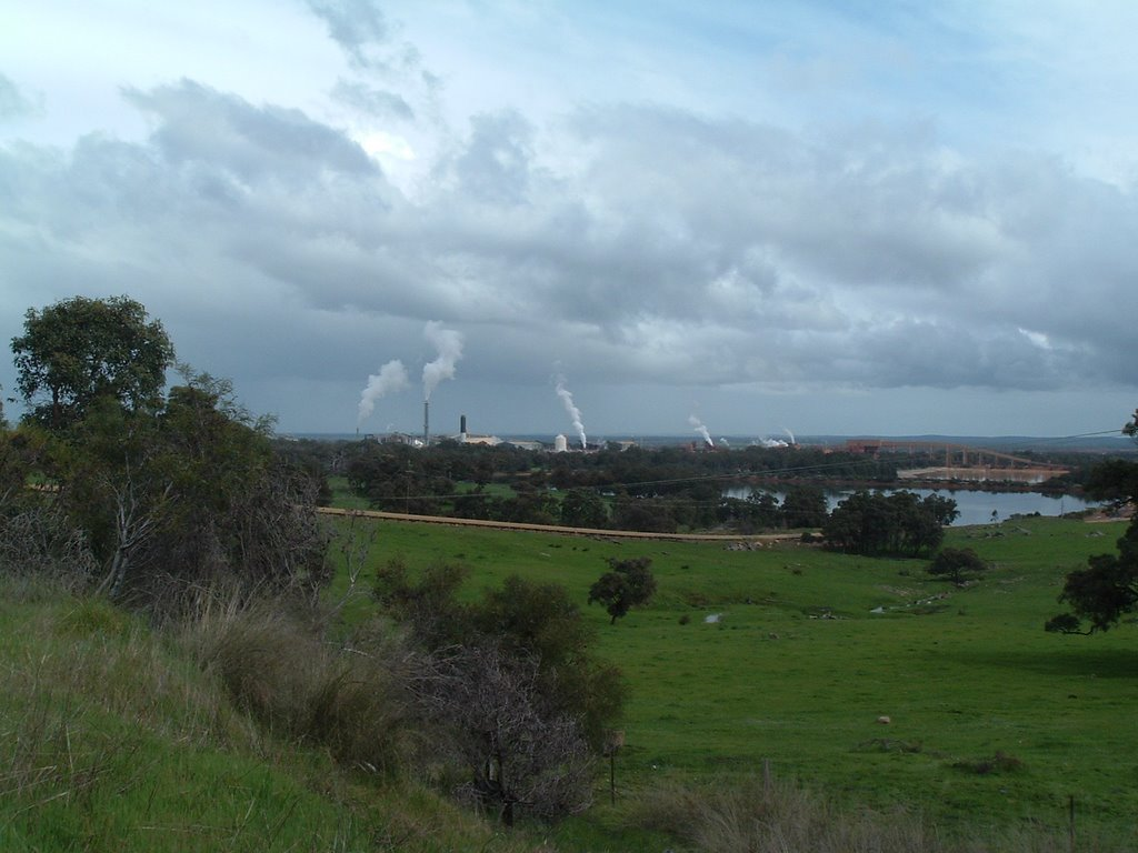 Alcoa Wagerup View Towards Refinery From the Hills
