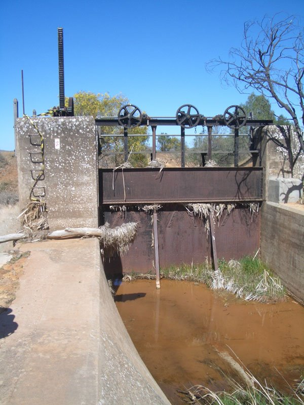 Freshwater Weir, 1904 engineering works