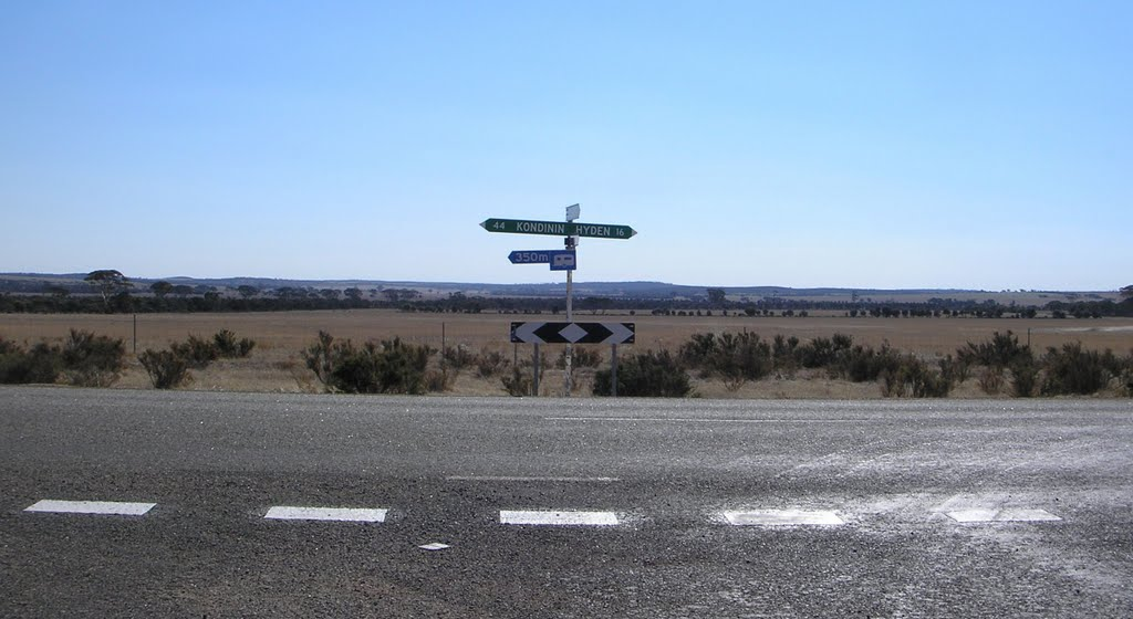 Kondinin  Hyden Road Sign