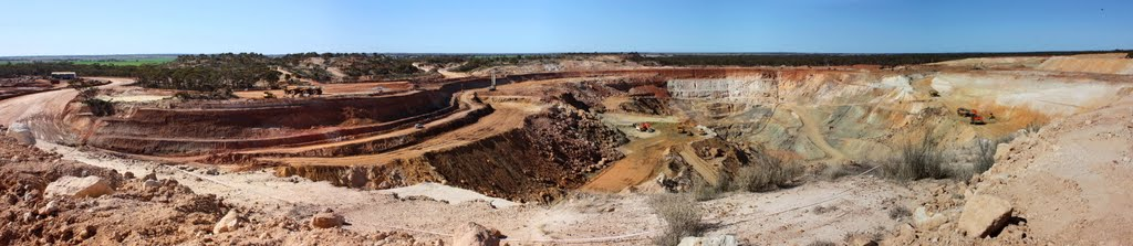 Edna May Open Pit Gold Mine Panorama